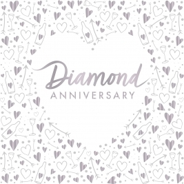 Diamond Anniversary Foil Stamped Lunch Napkins 3 ply - Pack of 16