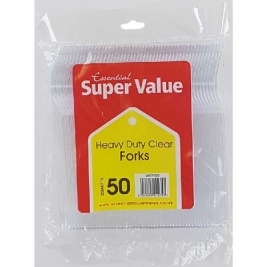 Extra Value Heavy Duty Plastic Forks 50Pk