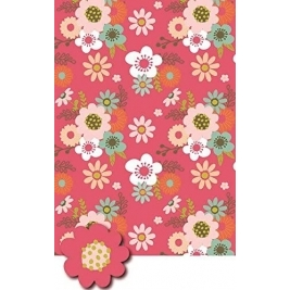Floral Wrap With Tags - Pack Of 2 Sheets And Tags