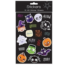 Halloween Spooky Stickers Trick or Treat Party Bag Fillers - Pack of 10