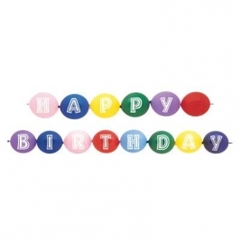 Happy Birthday Linking Balloons - Pack of 14