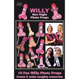 Hen Night Willy Photo Props (One Size) (Multicoloured)