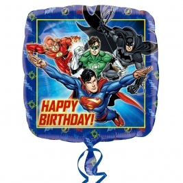 Justice League Happy Birthday Standard Foil Balloon 18