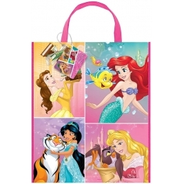 Large Plastic Disney Princess Party Bag, 33cm X 28cm