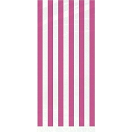 Lovely Pink Stripes Cellophane Bags  20ct
