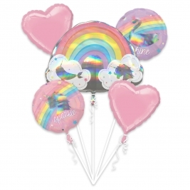 Magical Rainbow Holographic Foil Balloon Bouquet