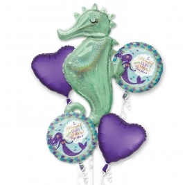 Mermaid Wishes Foil Balloon Bouquet