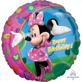 Minnie Happy Birthday Standard Foil Balloon 18