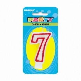 Number 7 Deluxe Birthday Candle