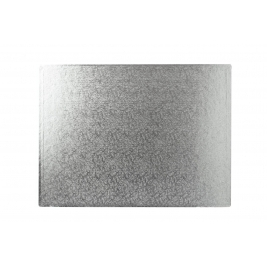 Oblong Silver Double Thick Cards 16 Inch x 12 Inch- 10PK