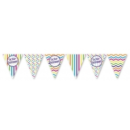 On Your Retirement - Paper Flag Bunting