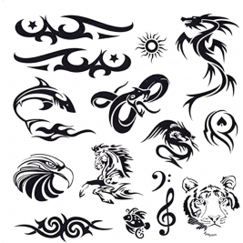 Pack Of 40+ Designs Fake Pretend Temporary Children's Tattoos For Boys