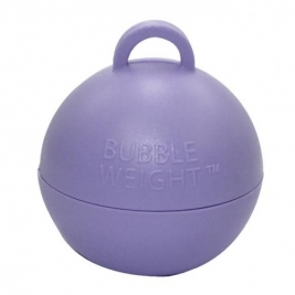 Pack of 25 Plastic Bubble Balloon weights - Lilac