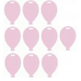 Pastel Pink Balloon Shape Weights Pack of 10