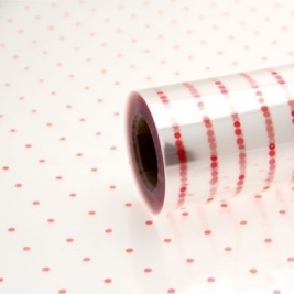 Printed Red Dots Film Rolls 80cm x 100m