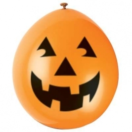 Pumpkin 9 Inch Latex Balloons - Pack of 10
