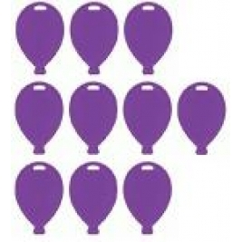 Purple Balloon Shape Weights Pack of 10