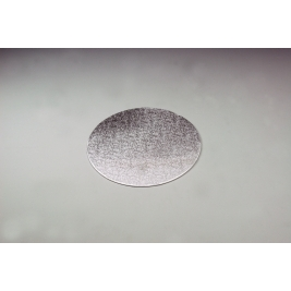 Silver Embossed Round 3mm Thick Cake Board - 26cm/10 Inch