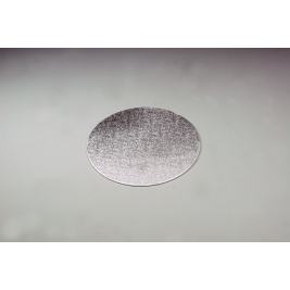 Silver Embossed Round 3mm Thick Cake Board - 30cm/12 Inch