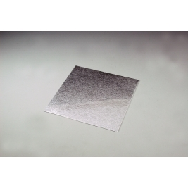 Silver Embossed Square 3mm Thick Cake Board - 36cm/14 Inch