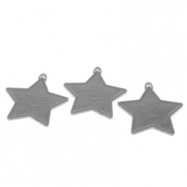 Silver Star Shape Weights (x50)