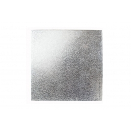 Square Silver Single Thick Cake Cards 10