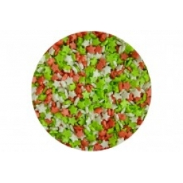 Sugar Mini Stars: Red, White & Green 60g