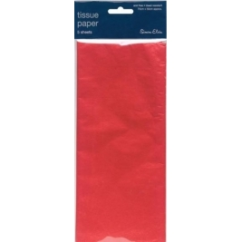 Red Solid Color Tissue