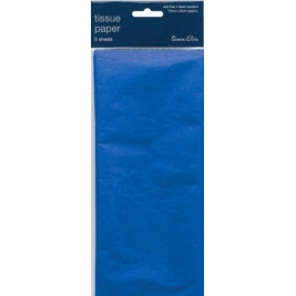 Blue Solid Color Tissue