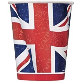 Unique Best Of British Union Jack Cups pk8 - 29666