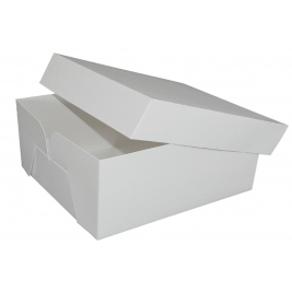 White Stapleless Shrink Wrapped Cake Boxes 16