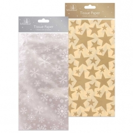 Wrap Tissue Paper 5 Sheets - Silver