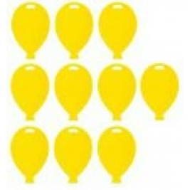 Yellow Balloon Shape Weights Pack of 10