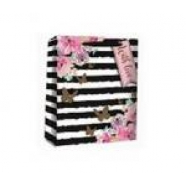 Floral Stripe Perfume Gift Bag - Pack Of 4 Bags