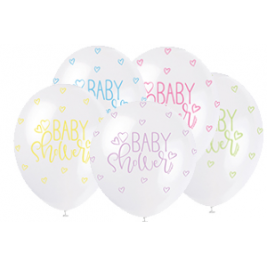 BABY SHOWER ASSORTED COLOR BALLOONS PACK OF 5