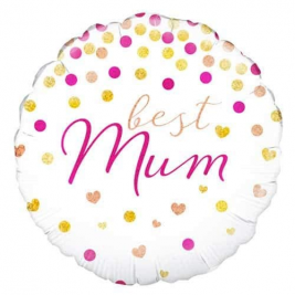 Best Mum Holographic 18 Inches Foil Balloon
