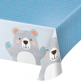 Birthday Bear Plastic Tablecover All Over Print 54