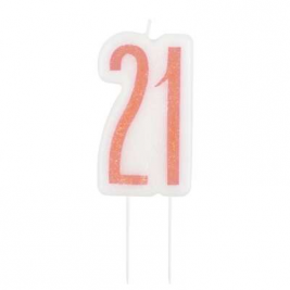 Birthday Glitz Rose Gold Number Candle-21