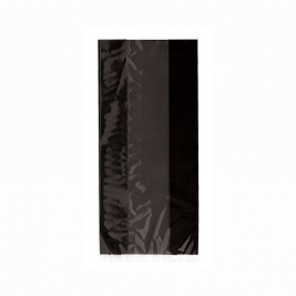 BLACK SOLID COLOUR CELLO BAGS - pack of 30