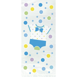 Blue Dots Baby Shower Cello Bags (20pk)