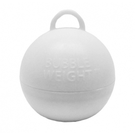 49mm x 45mm Plastic Bubble Balloon weights 35g - White
