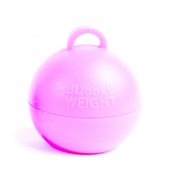 49mm x 45mm Plastic Bubble Balloon weights 35g - Baby Pink