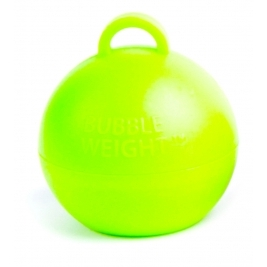 49mm x 45mm Pack of 25 Plastic Bubble Balloon weights  - Lime Green