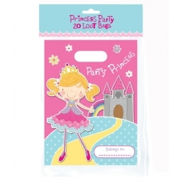 Princess Party Loot Bags - Pack of 20 bags
