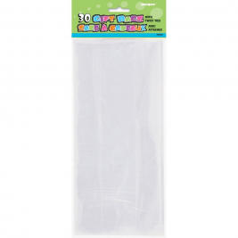 CLEAR SOL ID COLOUR CELLO BAGS - pack of 30