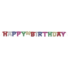 Deluxe Glitter Large Happy Birthday Jointed Banner