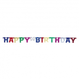 Deluxe Happy Birthday Jointed Banner
