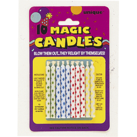 Diamond Dot Magic Birthday Candles Assorted Colours (10pk)