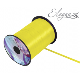 Yellow Eleganza Poly Curling Ribbon 5mm x500yds