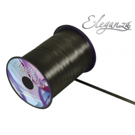 Eleganza Poly Curling Ribbon 5mm x500yds No.20 Black